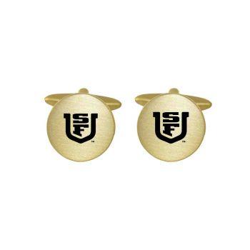 Brushed Metal Cuff Links-University of San Francisco-Gold