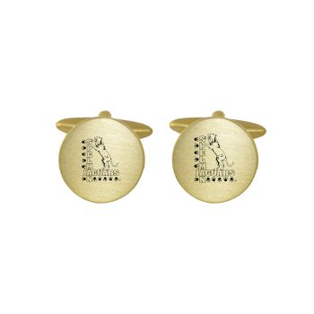 Brushed Metal Cuff Links-Spelman College-Gold