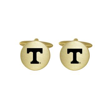 Brushed Metal Cuff Links-University of Tennessee-Gold