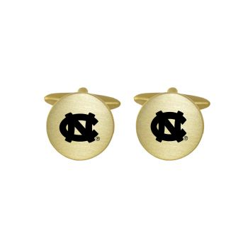 Brushed Metal Cuff Links-University of North Carolina-Gold