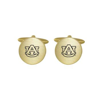 Brushed Metal Cuff Links-Auburn University-Silver
