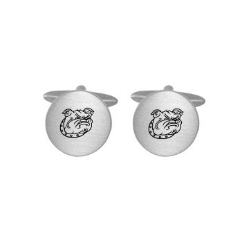 Brushed Metal Cuff Links-Bryant University-Silver