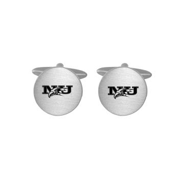 Brushed Metal Cuff Links-Niagara University-Silver