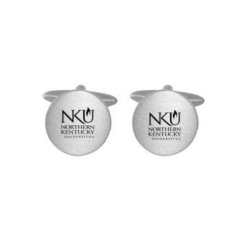 Brushed Metal Cuff Links-Northern Kentucky University -Silver