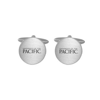 Brushed Metal Cuff Links-University of The Pacific -Silver
