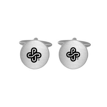 Brushed Metal Cuff Links-Portland State University-Silver