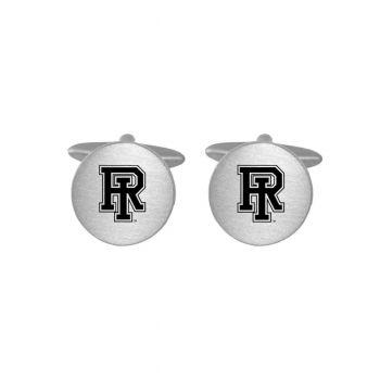 Brushed Metal Cuff Links-The University of Rhode Island-Silver