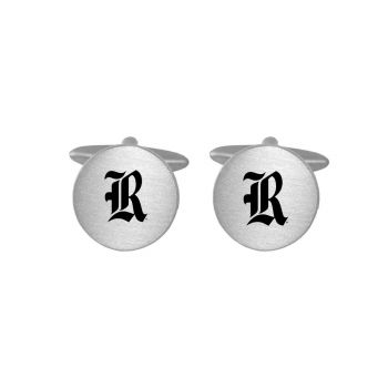 Brushed Metal Cuff Links-Rice University-Silver