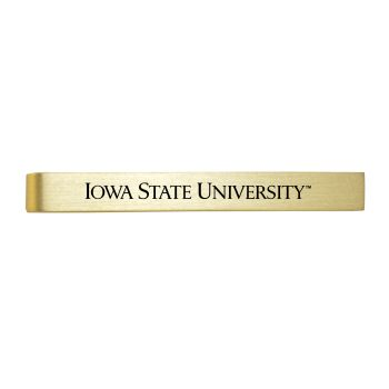 Iowa State University -Brushed Metal Tie Clip-Gold