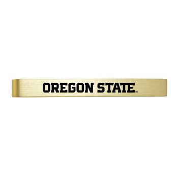 Oregon State University-Brushed Metal Tie Clip-Gold