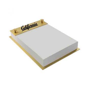 University of California Berkeley -Contemporary Metals Notepad Holder-Gold