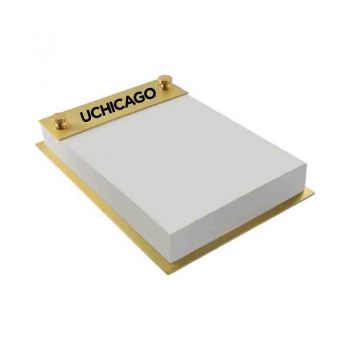 University of Chicago-Contemporary Metals Notepad Holder-Gold