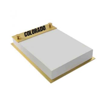 University of Colorado-Contemporary Metals Notepad Holder-Gold