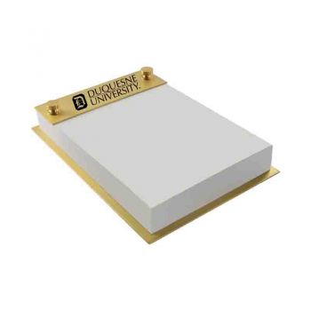 Duquesne University-Contemporary Metals Notepad Holder-Gold