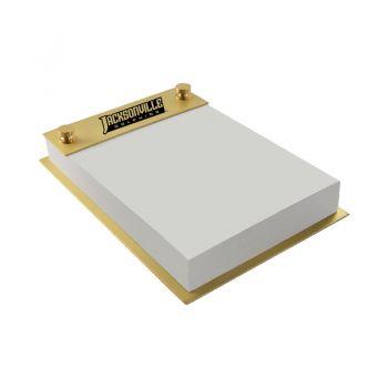 Jacksonville University-Contemporary Metals Notepad Holder-Gold