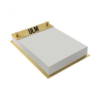 University of Louisiana at Monroe-Contemporary Metals Notepad Holder-Gold