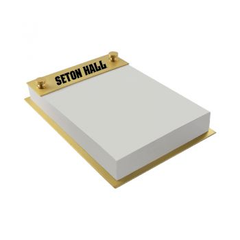 Seton Hall University-Contemporary Metals Notepad Holder-Gold