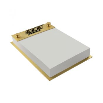 Southern University -Contemporary Metals Notepad Holder-Gold