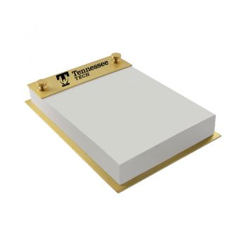 Tennessee Technological University-Contemporary Metals Notepad Holder-Gold