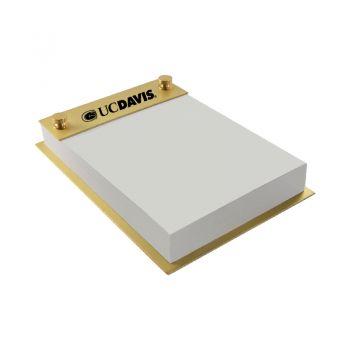 University of California, Davis-Contemporary Metals Notepad Holder-Gold