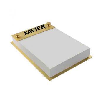 Xavier University-Contemporary Metals Notepad Holder-Gold