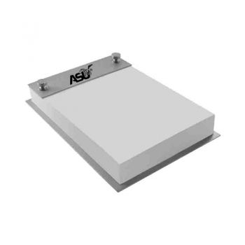 Alabama State University-Contemporary Metals Notepad Holder-Silver