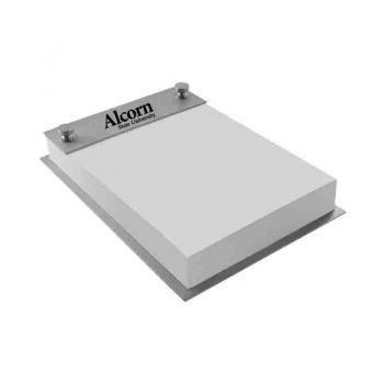 Alcorn State University-Contemporary Metals Notepad Holder-Silver