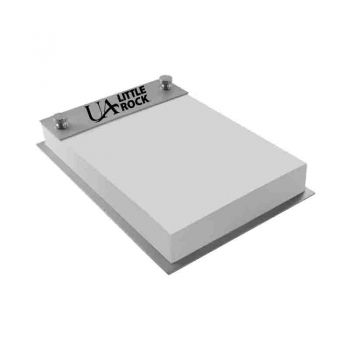 University of Arkansas At Little Rock-Contemporary Metals Notepad Holder-Silver