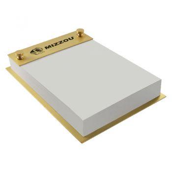 University of Missouri-Contemporary Metals Notepad Holder-Gold