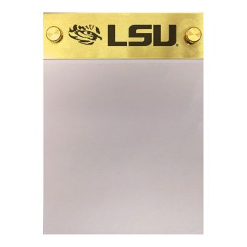 Louisiana State University-Contemporary Metals Notepad Holder-Gold