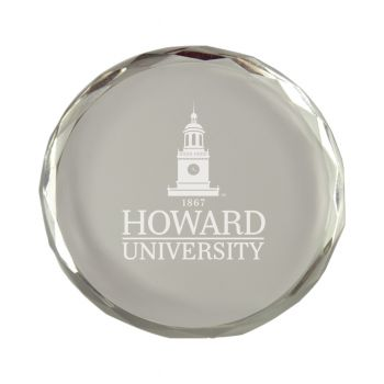 Howard University-Crystal Paper Weight