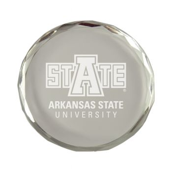 Arkansas State University-Crystal Paper Weight
