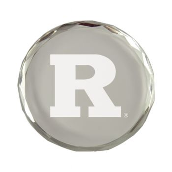 Rutgers University-Crystal Paper Weight