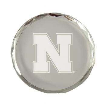 University of Nebraska-Crystal Paper Weight