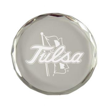 University of Tulsa-Crystal Paper Weight