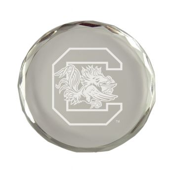 University of South Carolina-Crystal Paper Weight