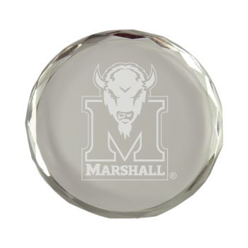 Marshall University-Crystal Paper Weight