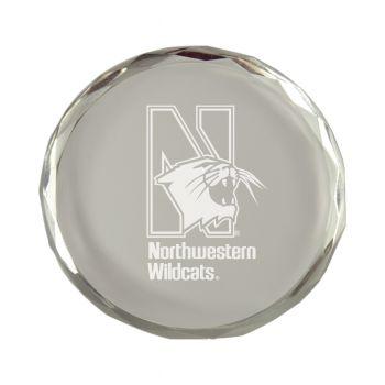 Northwestern University-Crystal Paper Weight