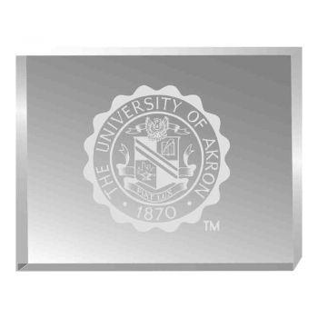 Univeristy of Akron-Acrylic Award Desk Piece-Paperweight