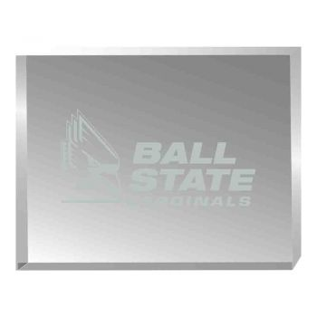 Ball State University-Acrylic Award Desk Piece-Paperweight