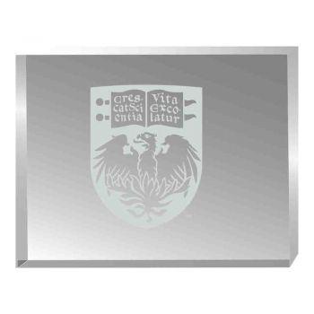 University of Chicago-Acrylic Award Desk Piece-Paperweight