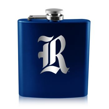 Rice University -6 oz. Color Stainless Steel Flask-Blue