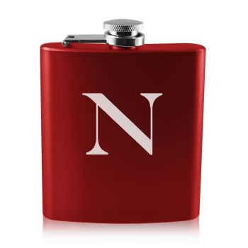 Northeastern University -6 oz. Color Stainless Steel Flask-Red