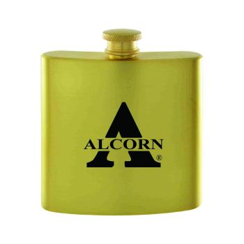 Alcorn State University-Contemporary Metals Flask-Gold