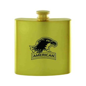 American University-Contemporary Metals Flask-Gold