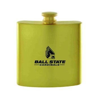 Ball State University-Contemporary Metals Flask-Gold