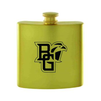 Bowling Green State University-Contemporary Metals Flask-Gold