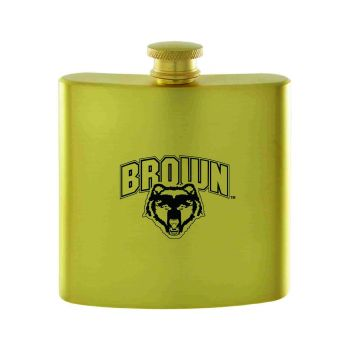 Brown University-Contemporary Metals Flask-Gold