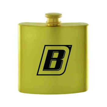 Bryant University-Contemporary Metals Flask-Gold