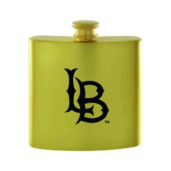 Long Beach State University-Contemporary Metals Flask-Gold